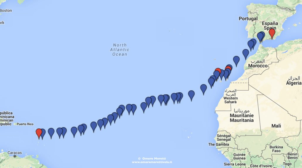 traversata atlantica in barca a vela andata rotta