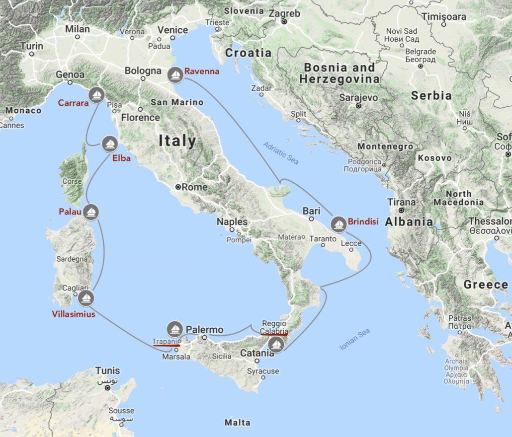 navigazioni altura in mediterraneo